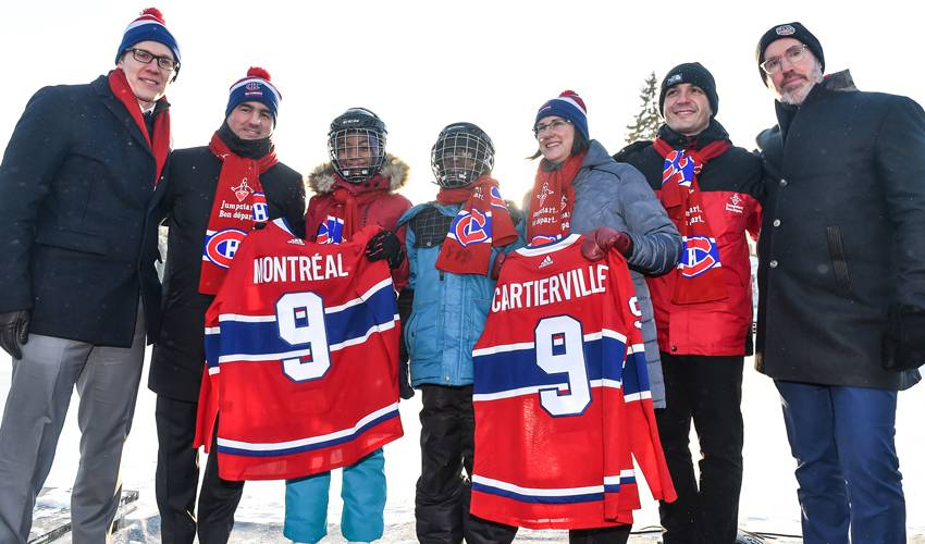 Montreal Canadiens Children's Foundation inaugurates ninth outdoor rink