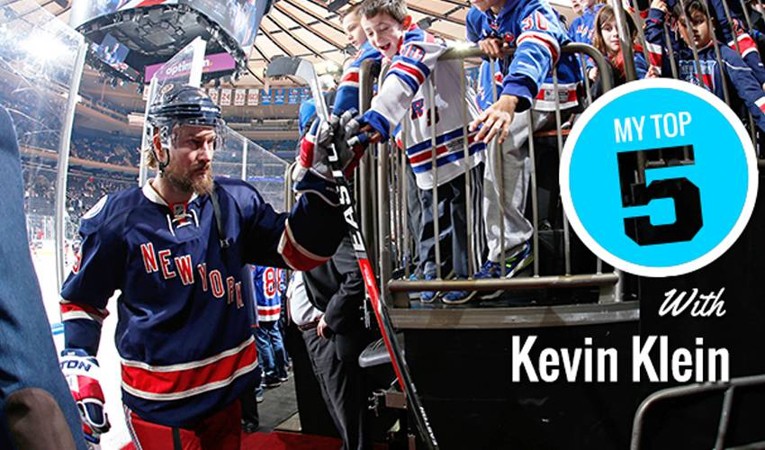 My Top Five | Kevin Klein