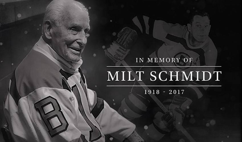 Bruins legend Milt Schmidt passes away