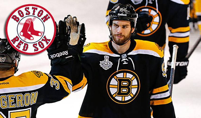 Bruins Support Champion Red Sox