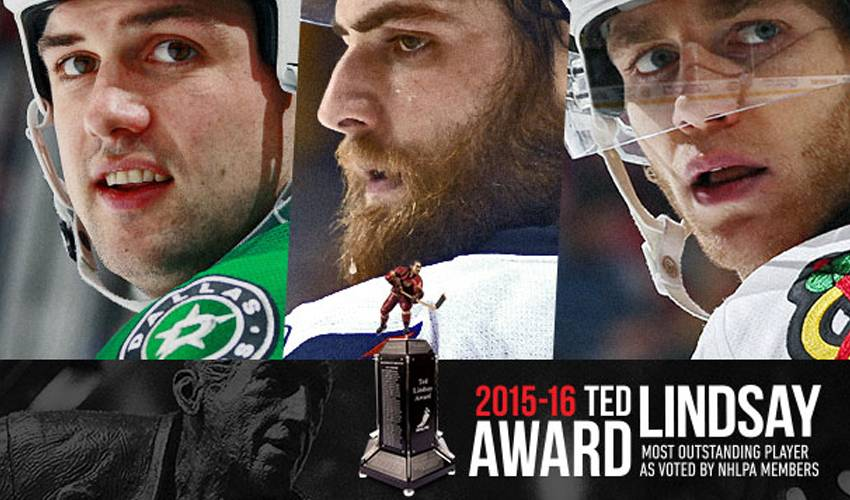 NHLPA ANNOUNCES FINALISTS FOR 2015-16 TED LINDSAY AWARD