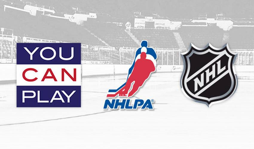 NATIONAL HOCKEY LEAGUE, NATIONAL HOCKEY LEAGUE PLAYERS' ASSOCIATION ANNOUNCE PARTNERSHIP WITH YOU CAN PLAY