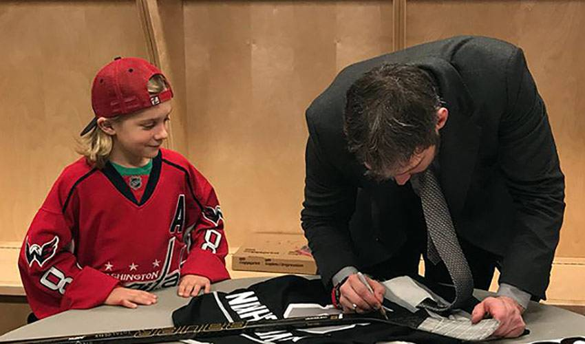Ovechkin Organizes Meet-And-Greet With 8-Year-Old Super Fan
