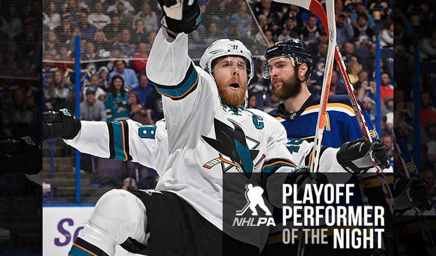 Pavelski Puts Sharks in Command