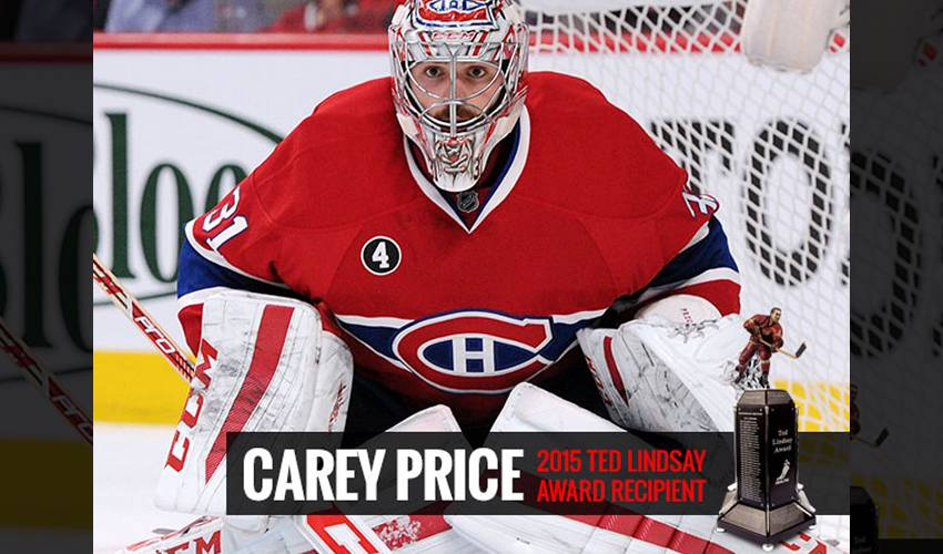 CAREY PRICE NAMED THE 2014-15 TED LINDSAY AWARD RECIPIENT